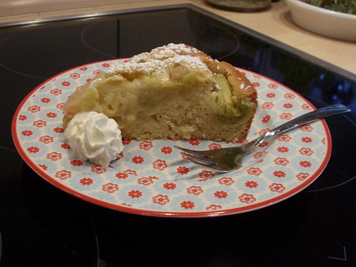 Rhabarberkuchen mit Eierlikör 2
