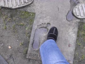 Sein Fuß, mein Fuß, so könnte es ausgesehen haben.